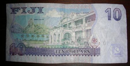 Fijian money - 10 dollar note
