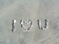 Stay at a honeymoon resort Fiji then write this on the sand