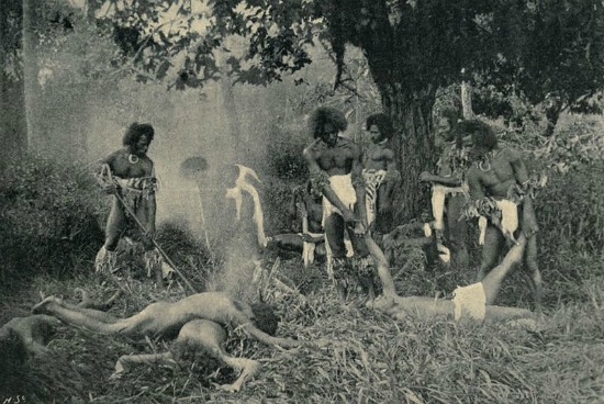A fiji native cannibal feast