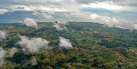Aerial view of Viti Levu, near Nadi, Fiji