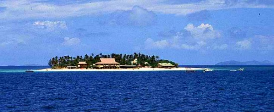 Budget party Fiji Vacations starts in Beachcomber Island.