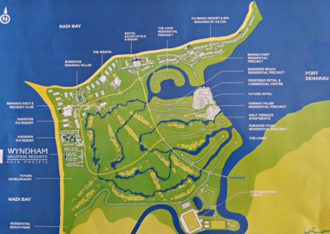 Denarau Island Fiji  city photo : Denarau Island Fiji Map