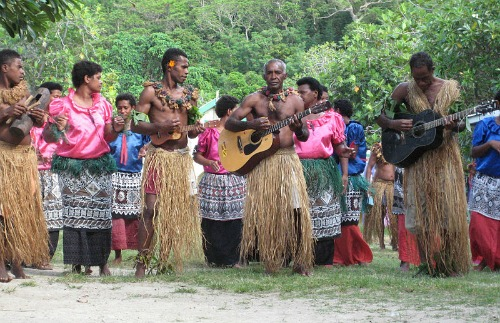 A Fiji music folk band