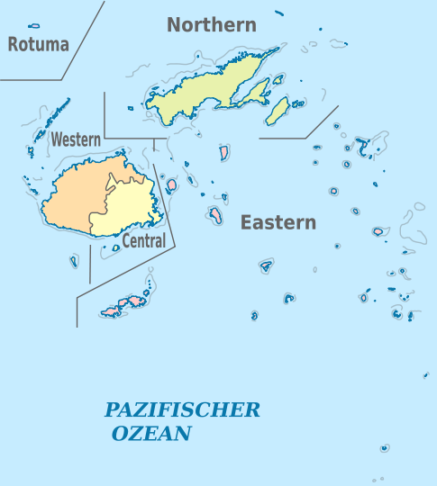Administrative map of fiji