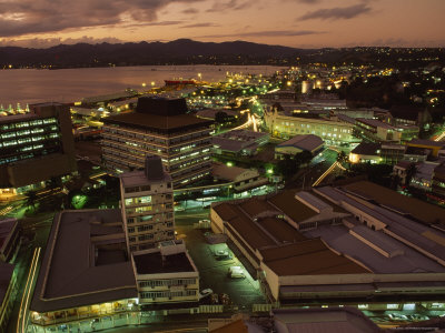The Fiji capital, Suva at night.