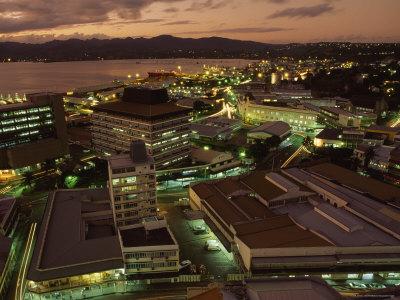 The Fiji capital, Suva at night.