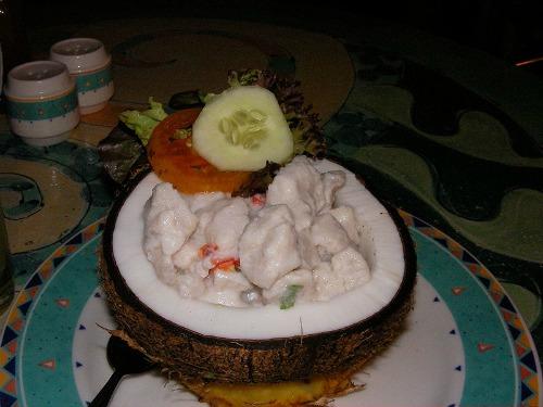 fiji food, a kokoda dish