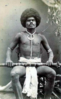 Fijian warrior from the Viti Levu highlands