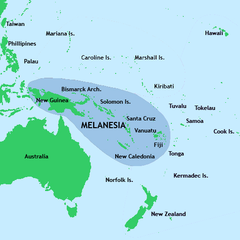 Melanesia Fiji world map