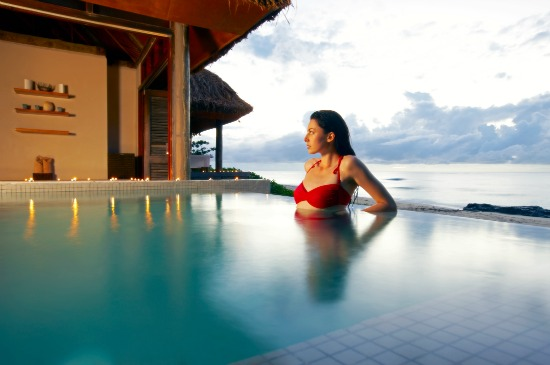 Yasawa Island Resort & Spa's plunge at it's beachside Spa