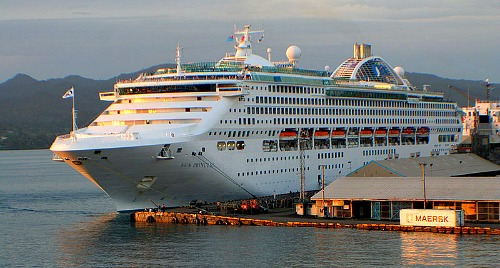 The Sun Princess docked at King s Wharf Suva Fiji