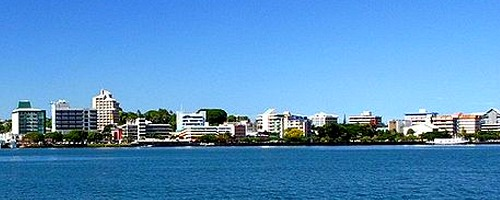 the harbour in Suva, Fiji