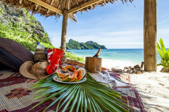 A private beach picnic at Tokorki Resort perfect if you are on your Fiji honeymoon!