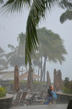 the climate in Fiji can be rainy during the hot the season.