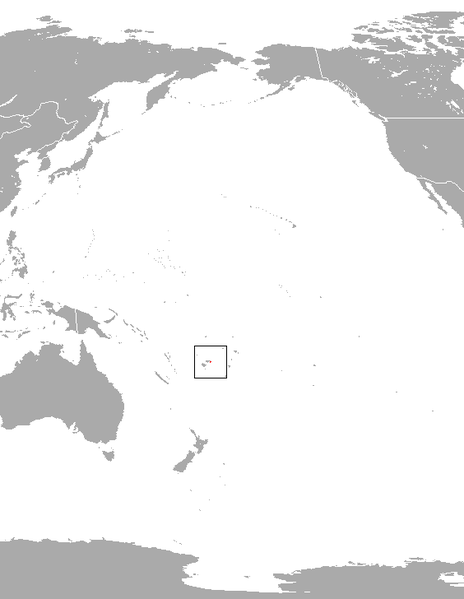 World map Fiji