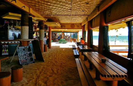 Dining and bar area at Beachcomber Island Fiji