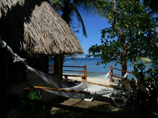 View from Beachfront Bure at Beachcomber Island Resort Fiji