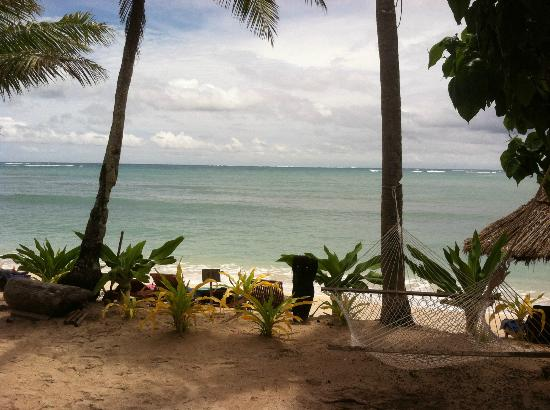 View from a bure at Blue Lagoon Beach Resort Fiji