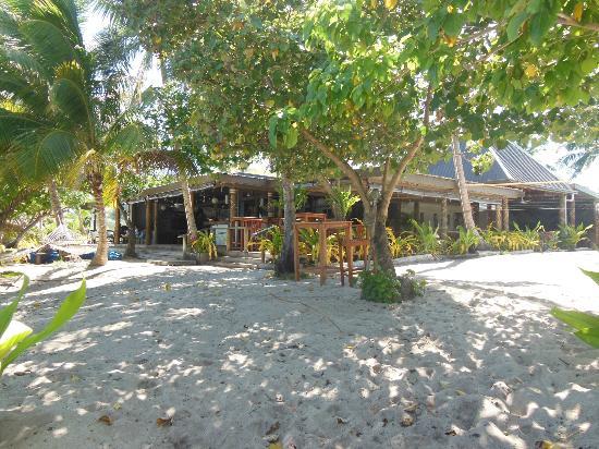 Blue Lagoon Beach Resort's dining bure and bar in Fiji