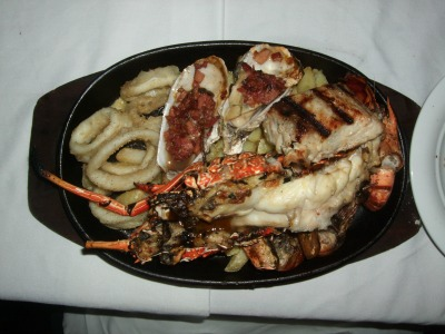 Seafood platter with lobster, crab etc