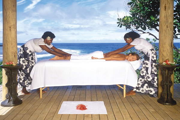 A relaxing massage on a clifftop at Namale Fiji Resort & Spa