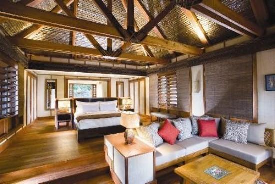 Likuliku Lagoon Resort Fiji inside a bure