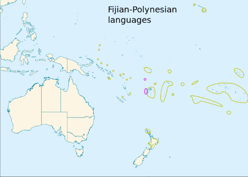 Fiji language map