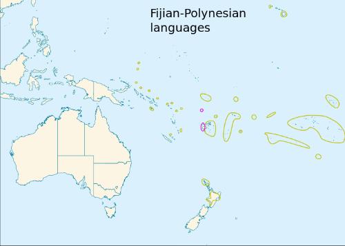 Fiji language map