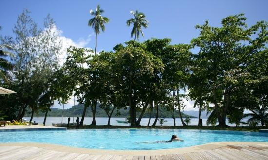 Matangi Island Resort pool