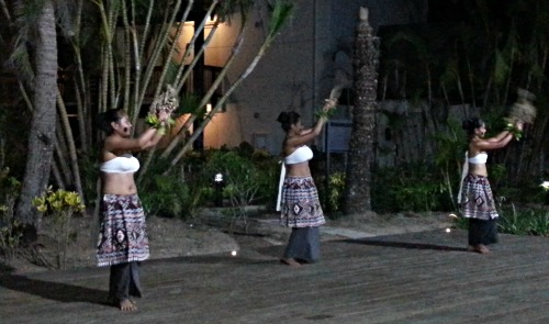 A Fijian dance, called a meke, at our Fiji resort