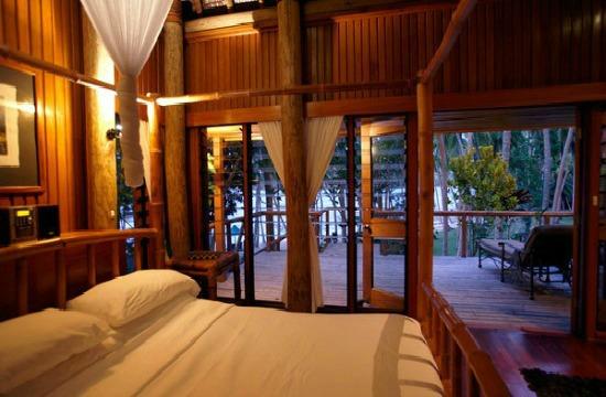 King size bed at Namale Resort Fiji