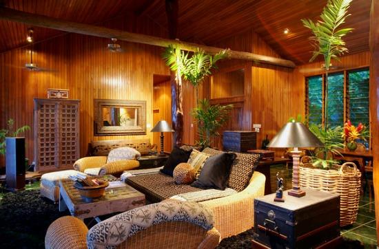 Bure interior at Namale Fiji Resort