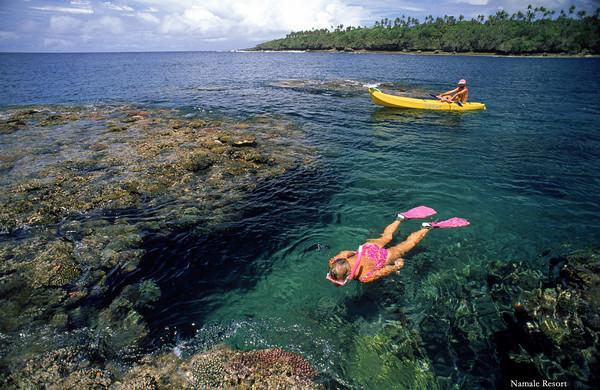 Snorkeling in Fiji off Namale Resort