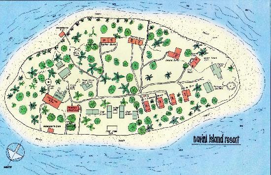 Navini Island map