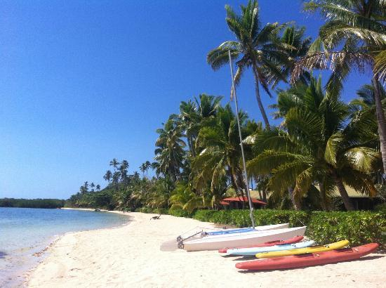 Beach at Nukubati Island Resort  Fiji