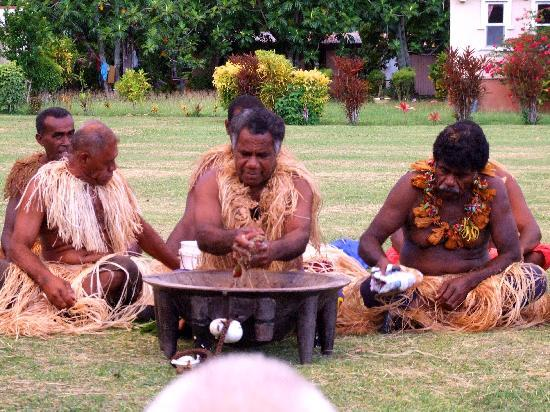 kava ceremony on our Fiji vacation