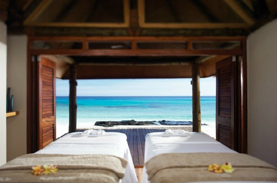 Massage beds at Yasawa Island Resort Fiji
