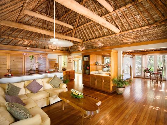 Inside a bure at Turtle Island Resort Fiji