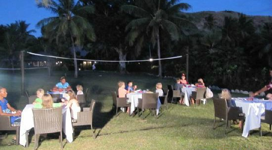 Kids Club dinner time at Vomo Island