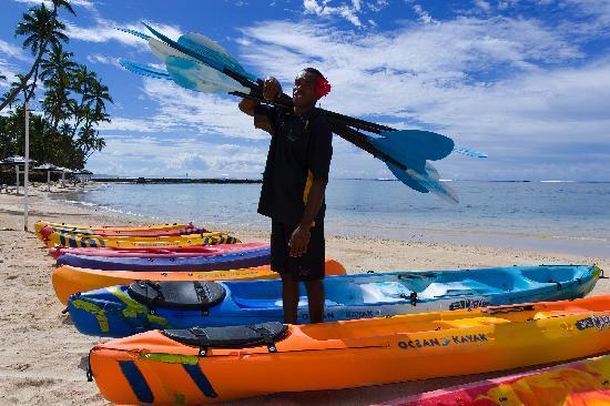 The Warwick Resort Fiji - kayaks on the beach