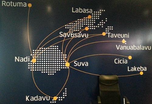 Fiji map at Nadi airport Fiji