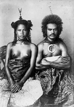 A fiji native couple 1869