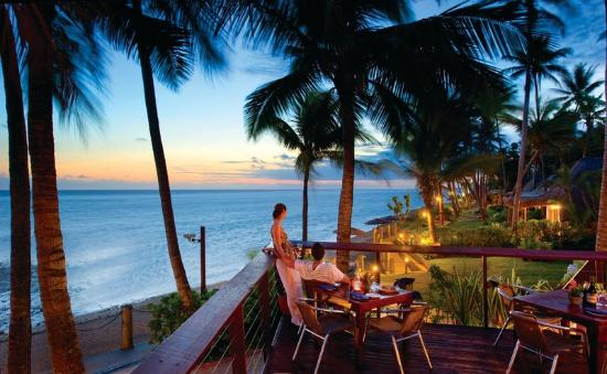 Dining at The Outrigger Lagoon Fiji