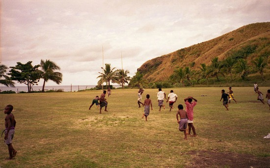 Fiji rugby played by kids