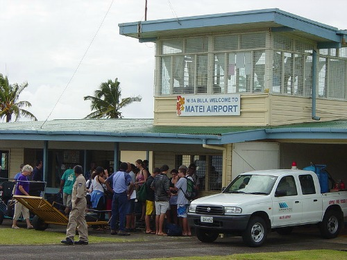 Matei airport in Fiji on the island of Taveuni