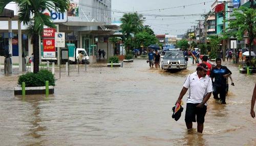 Fiji weather - Nadi after heavy rainfal