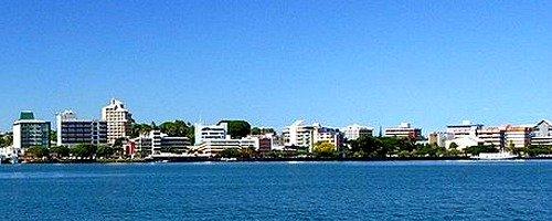 the harbour in Suva, Fiji