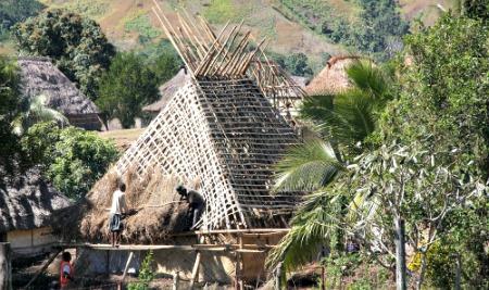 A village on a Fiji tour