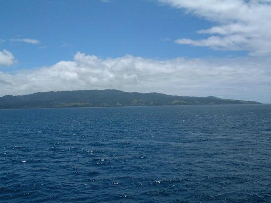 View from a ferry of Vanua Levu Fiji
