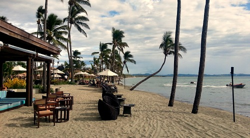 One of many beachside Fiji resorts